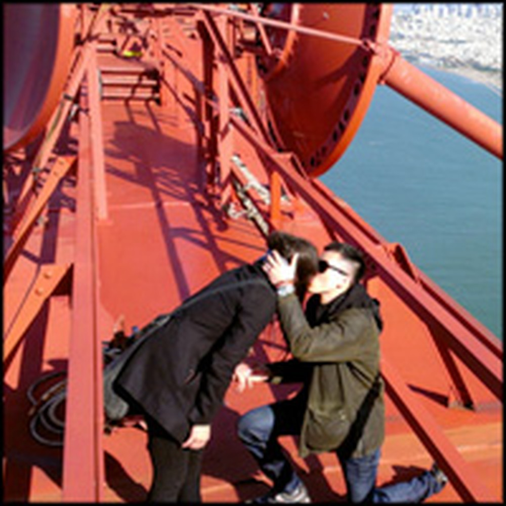 Romantic Proposal From Atop the Golden Gate Bridge is Stunning