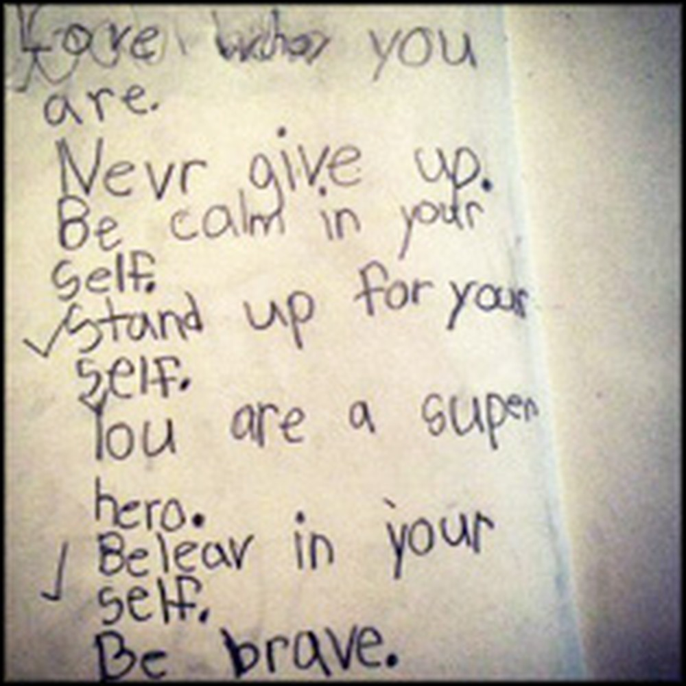 Little Girl's Adorable Note Will Make Your Day - We Guarantee It.