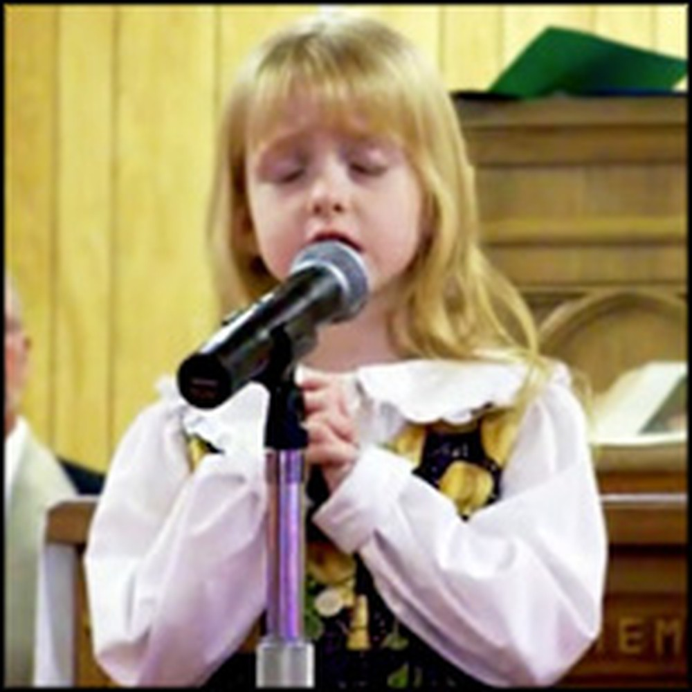Precious Little Girl Sings a Song for Her Deployed Soldier Brother