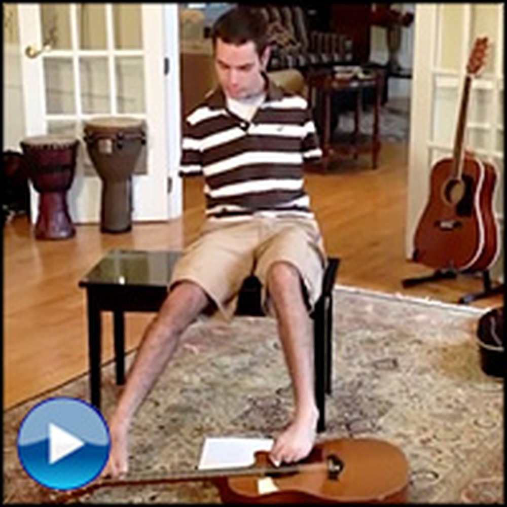 Young Man With No Arms Plays Hallelujah on Guitar