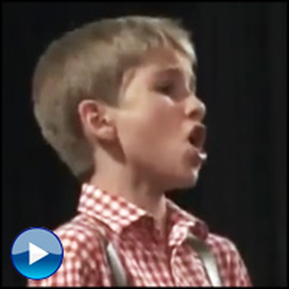 Schoolboy Sings Ave Maria Just Like an Angel - You'll Get Chills