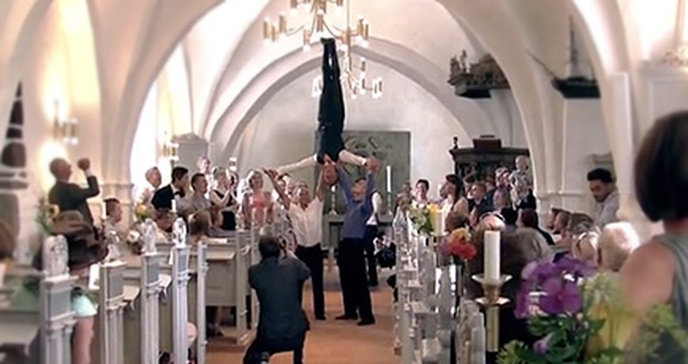 You'll FLIP Over This Incredible Wedding Entrance - the Groomsmen are Awesome!