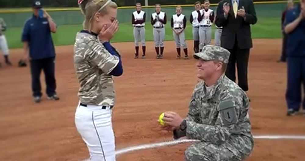 A Soldier Surprised His Girl With This Proposal - and Knocked it Out of the Park!