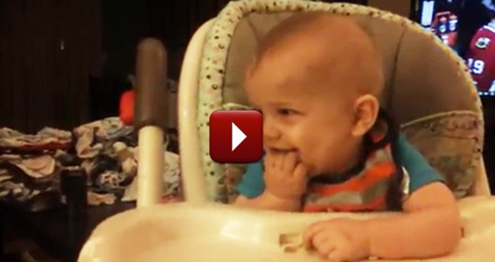 Start Your Weekend Right by Watching This Silly Giggling Baby :)