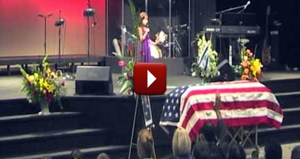 7 Year Old Girl's Touching Song at her Grandpa's Funeral