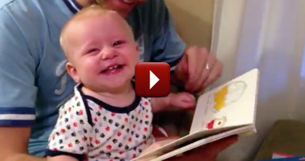 This Silly Baby's Reaction to a Book Will Keep You Smiling. He is So Funny!