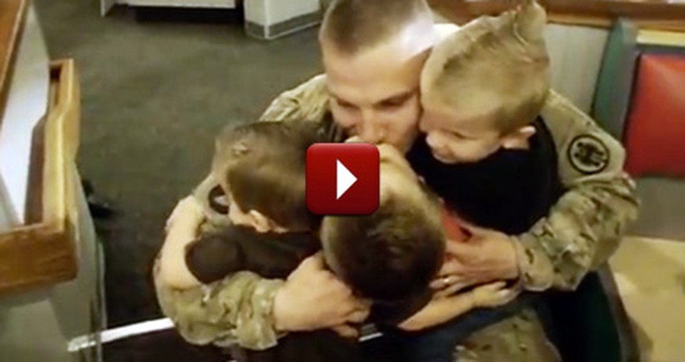 Sneaky Soldier Tricks His Family With This Adorable Surprise