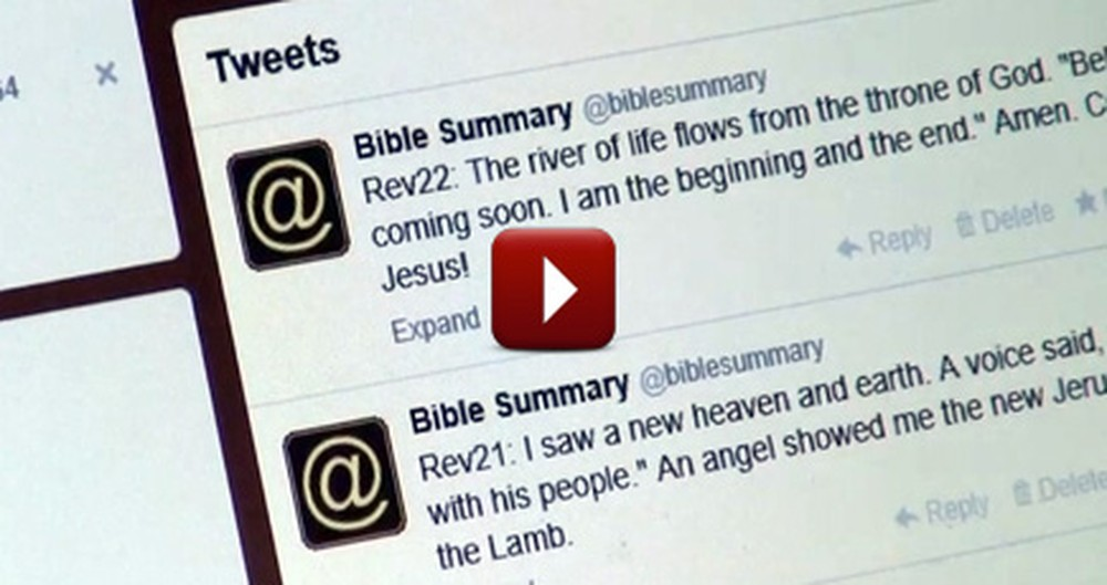 Inspirational Man Tweets the Entire Bible to Spread the Christian Faith