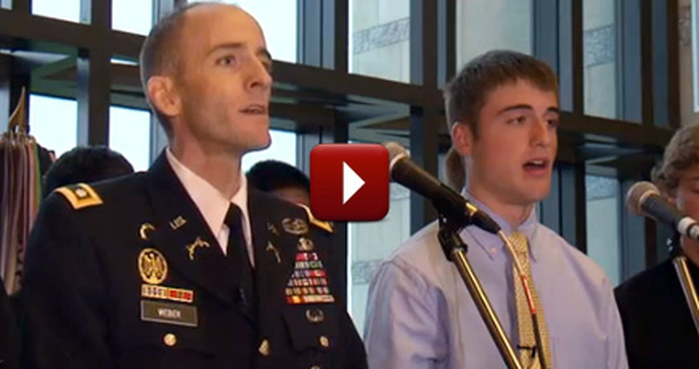Dying Soldier Sings One Last Song With His Son