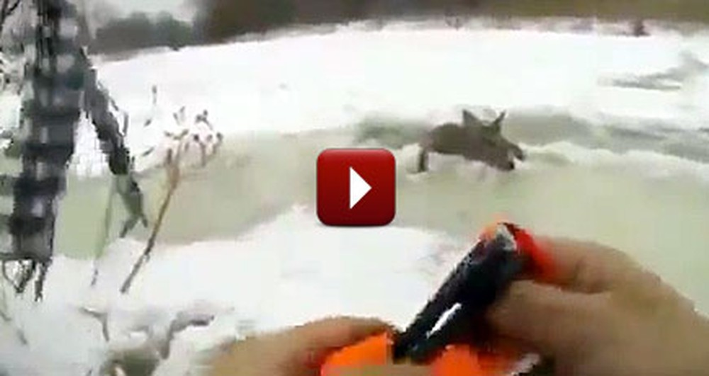 2 Friends Went Ice Fishing, But Caught Something Much Bigger