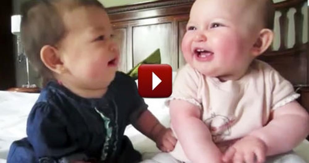 2 Adorable Babies Have the World's Cutest Conversation