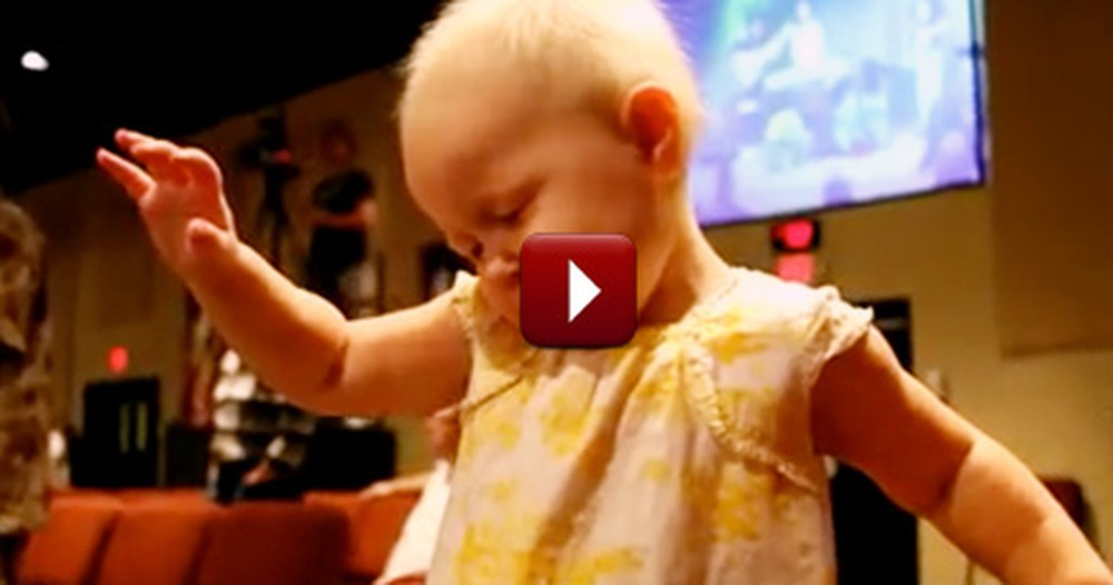 Adorable Baby Praises God in Church