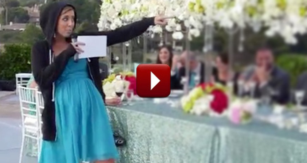 Awesome Maid of Honor Gives the Bride an Epic Surprise Speech