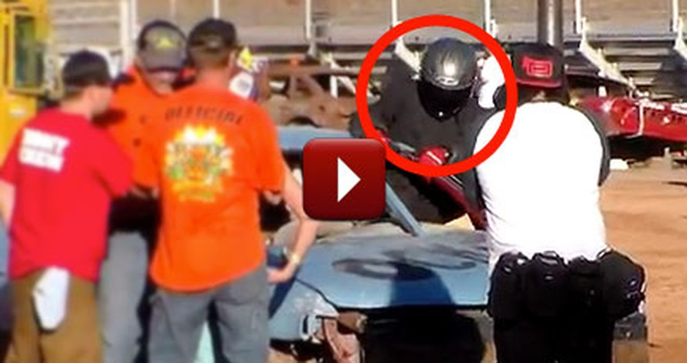 A Demolition Derby Driver Reduced a Woman to Tears of Joy With a Surprise