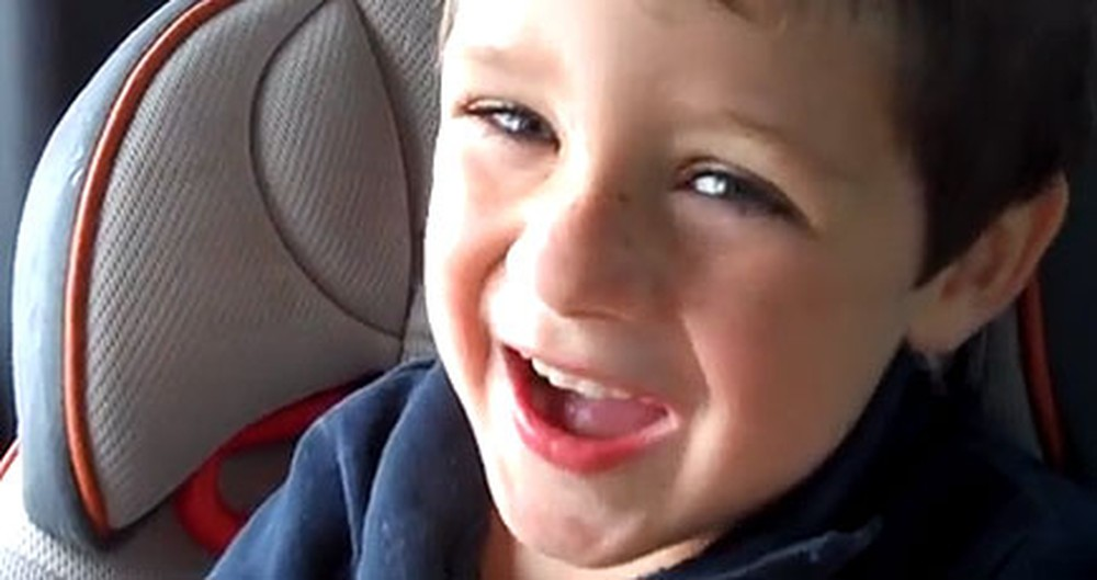 The World's Sweetest Little Boy Serenades His Mommy From the Backseat