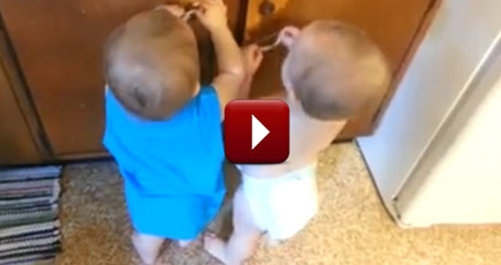 Twin Babies Have the Best Time Playing with the Simplest Thing!