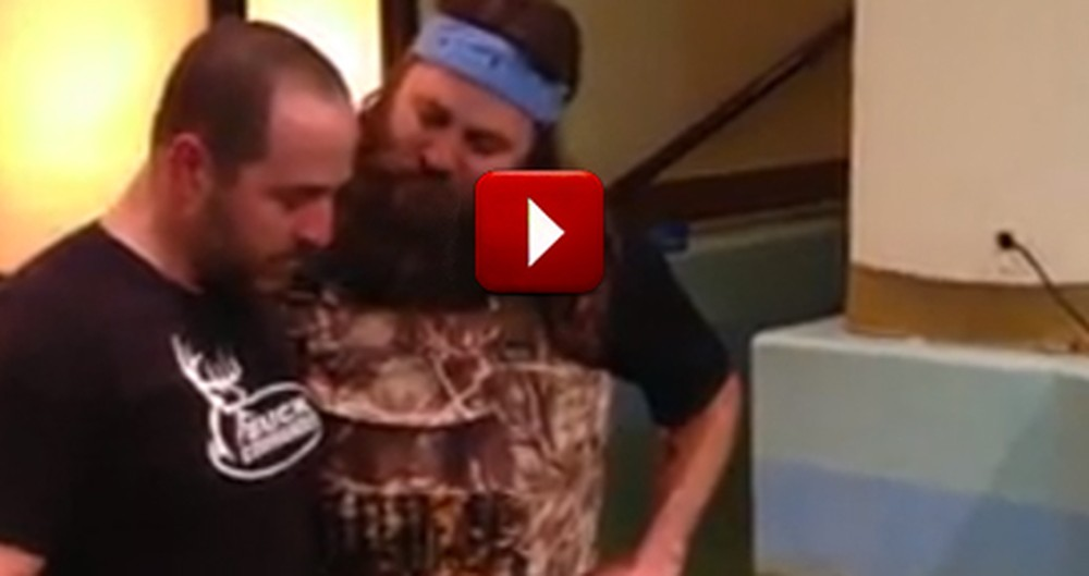 Emotional Baptism by Willie Robertson of Man Fighting Cancer
