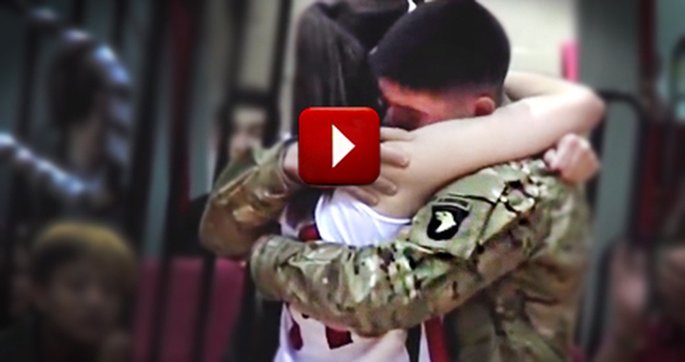 College Ball Player Gets Best Surprise from Her Military Brother - Tears!