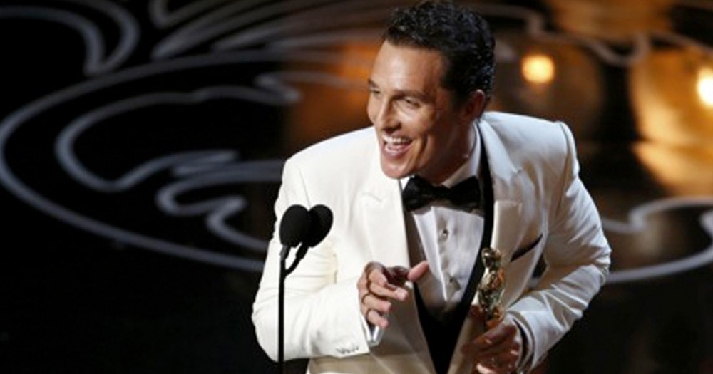 Oscar Winner Matthew McConaughey Boldly Thanks God in Acceptance Speech