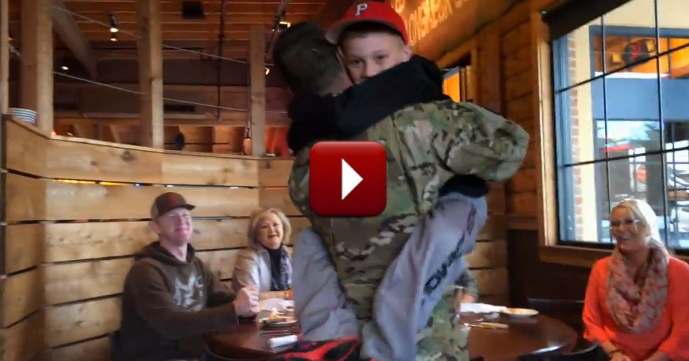 Army Dad Surprises Young Son with the BEST Reunion