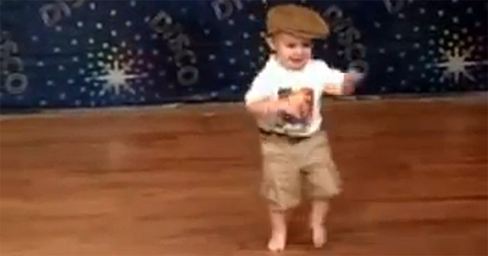 Precious Baby Suddenly Dances When the Music Starts - So Cute