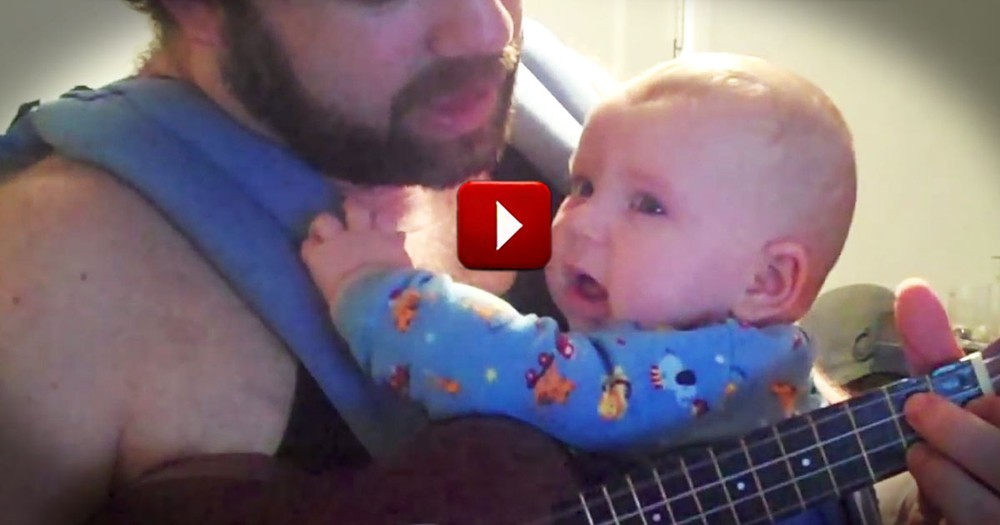 This Dad Has a Soothing Trick for His Sleepy Baby. Check Out This Hallelujah Lullaby!