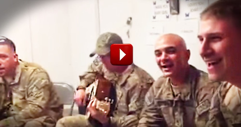 Here Is The One Song You'll Be Singing All Day.  These Soldiers Will Melt Your Heart!
