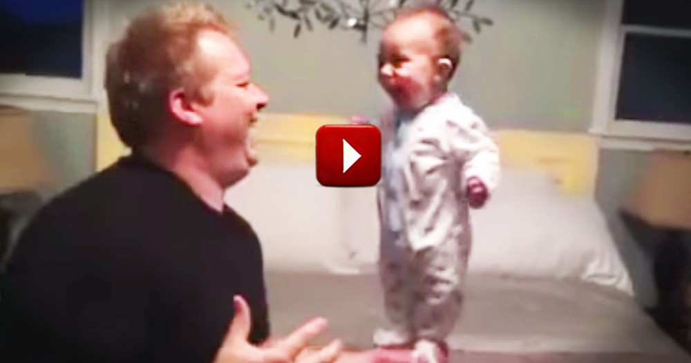 When Mom's Away This Dad Will Play. And Did I Mention This is Absolutely Precious!