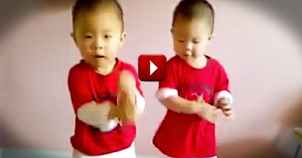 I Could Watch This Dance Routine All Day. They Are 'Two' Cute!