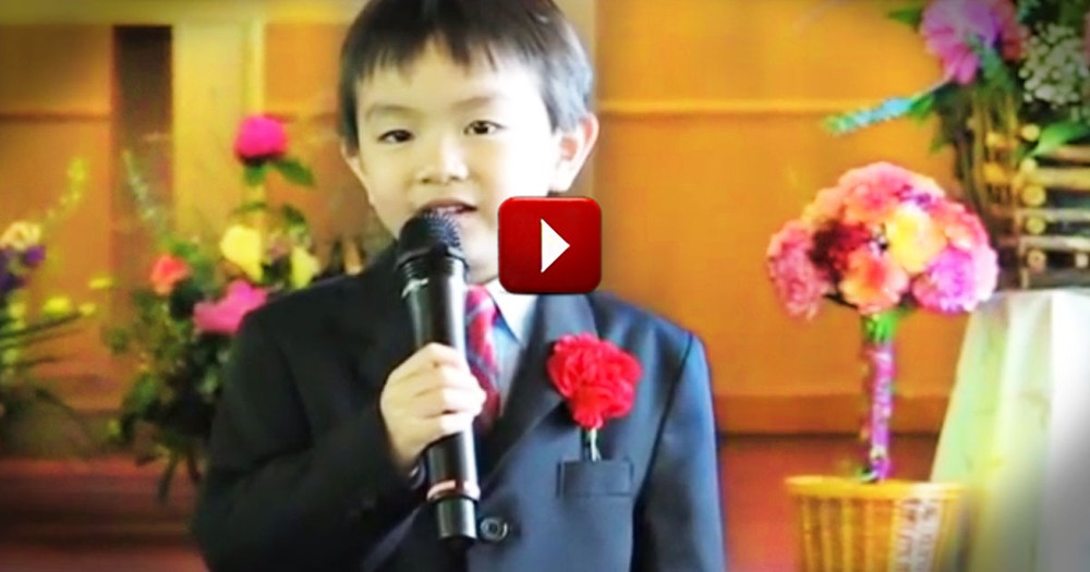 Here Is One Easter Performance I'm Glad Was Caught On Tape. He Is So Cute!