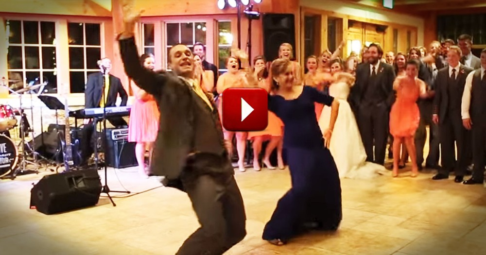 When I Saw This Groom's Surprise Dance, I Was So Impressed. His Mom's Got Moves!