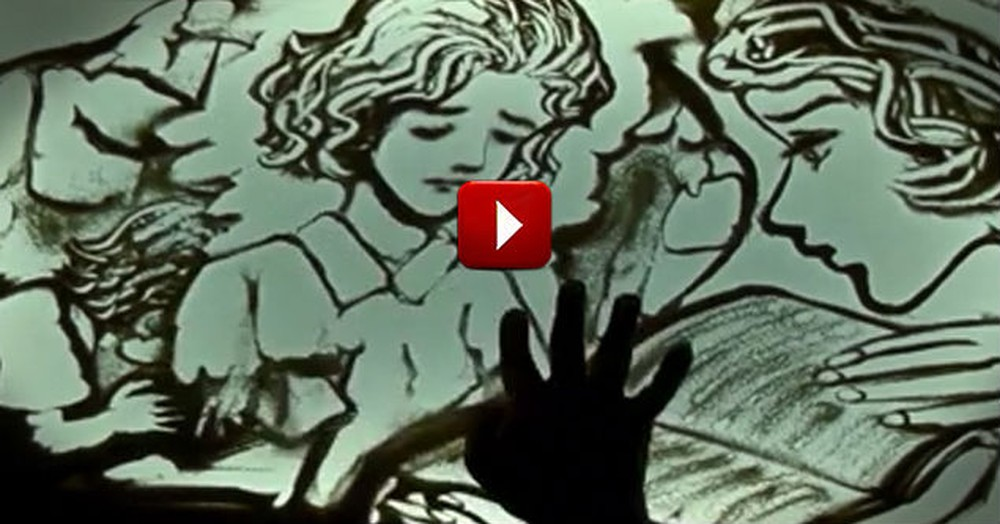 Beautiful Sand Art Performance Will Move You!  This Story Is So Heartwarming.