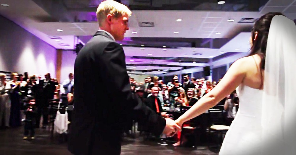 This Bride And Groom Had Guests Frozen In Their Seats With This First Dance Surprise! So Cute.