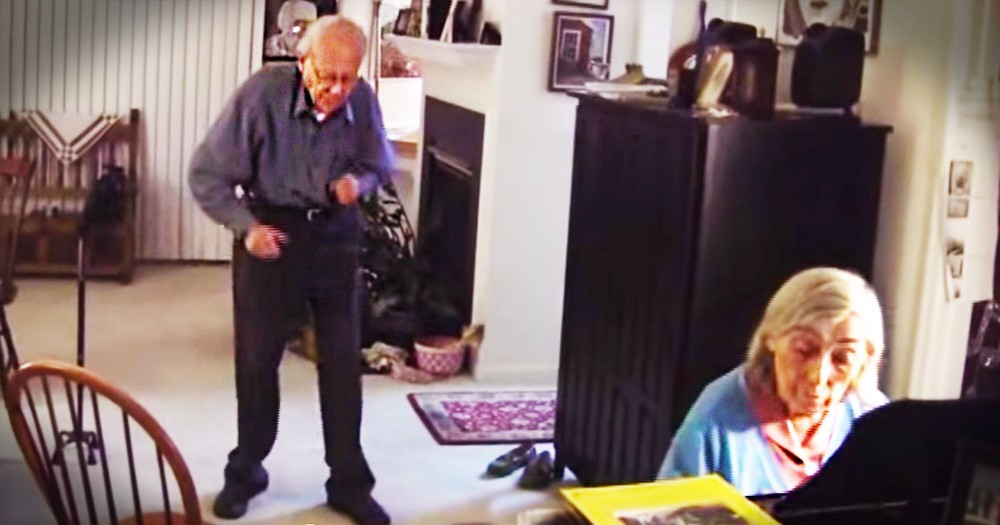 She Was Playing Piano When Suddenly, Her Husband Jumped Up! His Moves at :55 Made My WEEK!