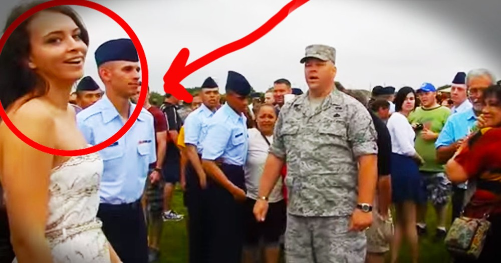 What This Military Dad Just Did Is AWESOME. And The Surprise At 26 Seconds Is Even Better!