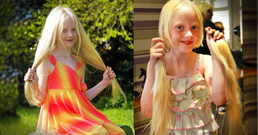When You Find Out Why This 6 Year Old Girl Cut Off 2-Feet of Hair...You'll Be Grabbing The Tissues