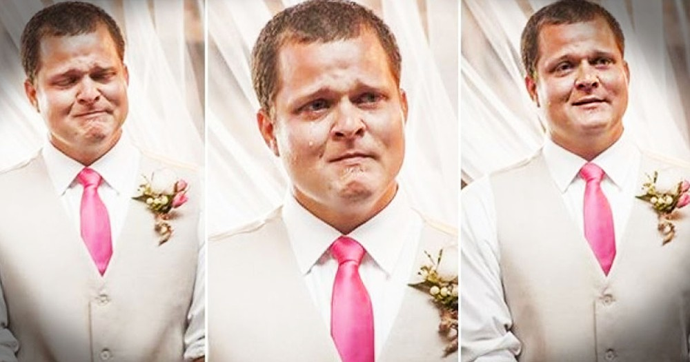 The Reactions of These 22 Grooms Seeing Their Brides Are PRICELESS. I Was in Tears by #3