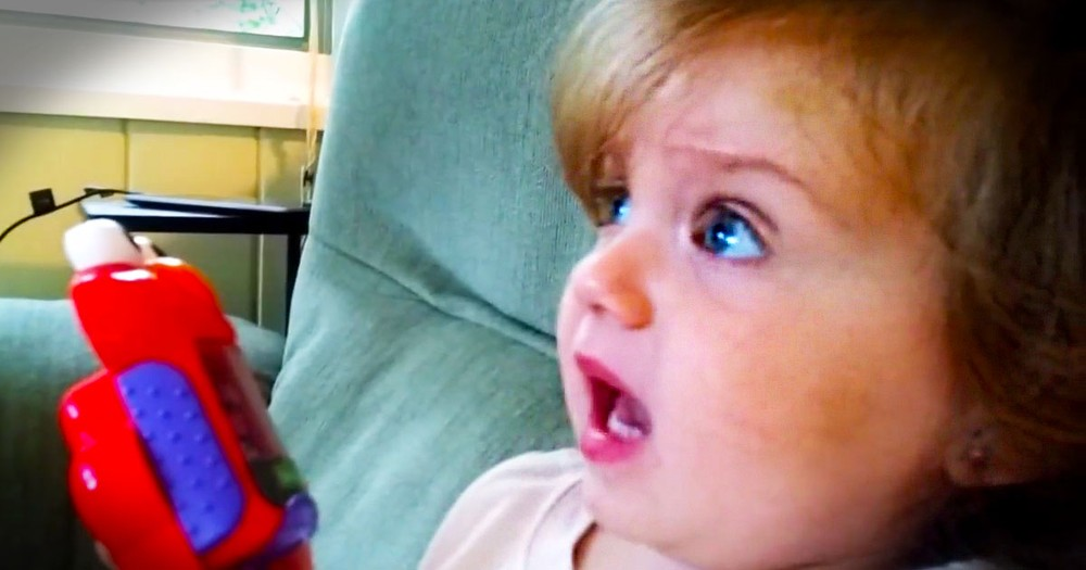 When You See What Gave This Little Girl This Much Joy, Your Heart Will Fly Over The Moon! Awww.