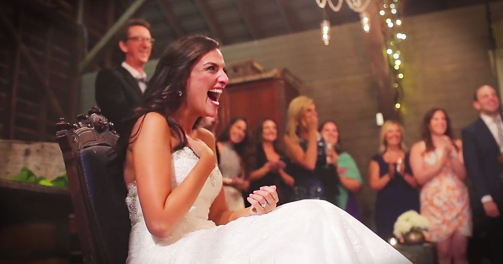 This Bride Thought She Was The Only One With A Surprise. Until Her Groom Did THIS!