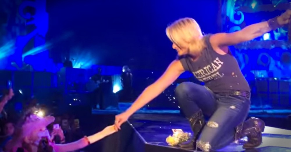 This Country Super Star Broke Down In The Middle Of A Concert. And When You See WHY You Will Too!