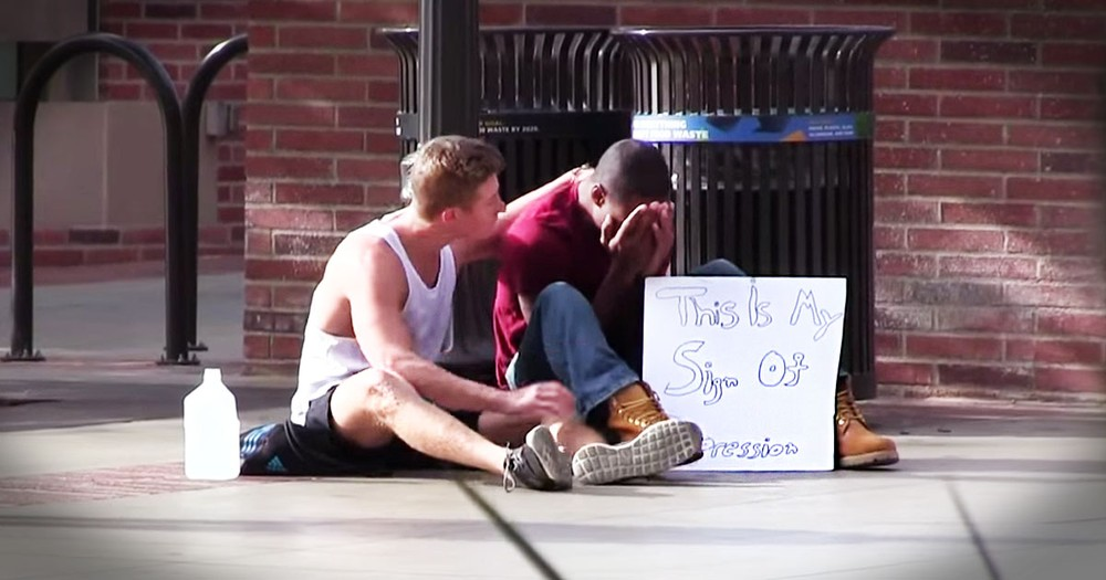 This Man Struggled With Depression. Until Complete Strangers Overcame Their Shock To Do THIS!