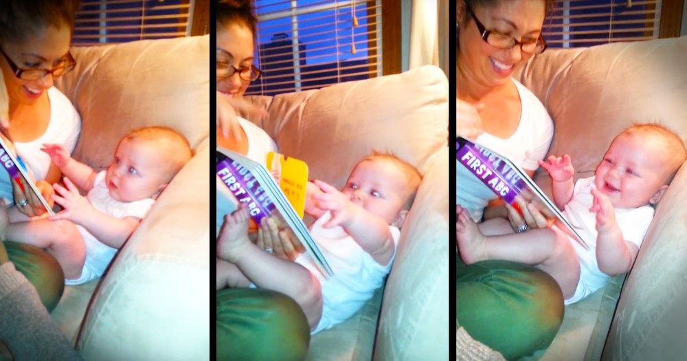 When This Baby Gets Surprised, He Can't Stop Laughing. And Watching His JOY Made My Day Too!