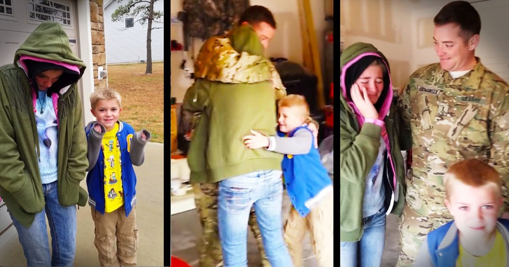 Soldier Returns To Surprise His Kids Just In Time For Christmas