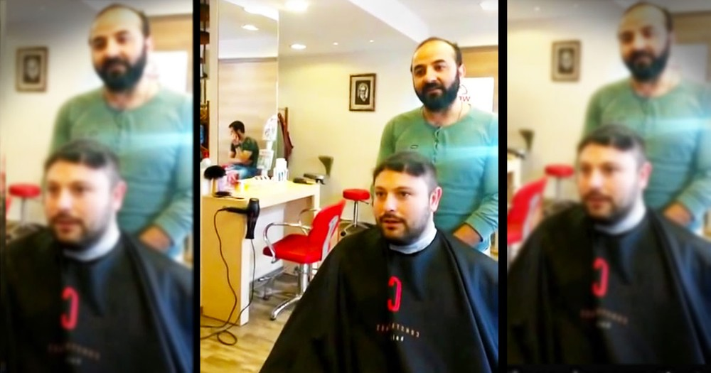 Barber Gives A Man A Hilarious Haircut In Just Seconds