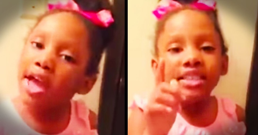 Little Girl Has Inspiring Message For Sad People