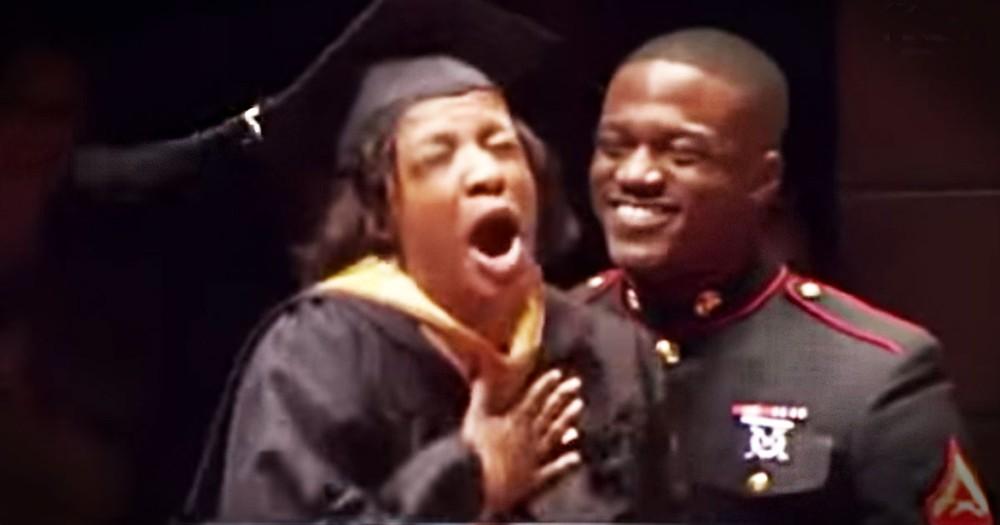 Graduating Mom Gets Amazing Surprise Visitor