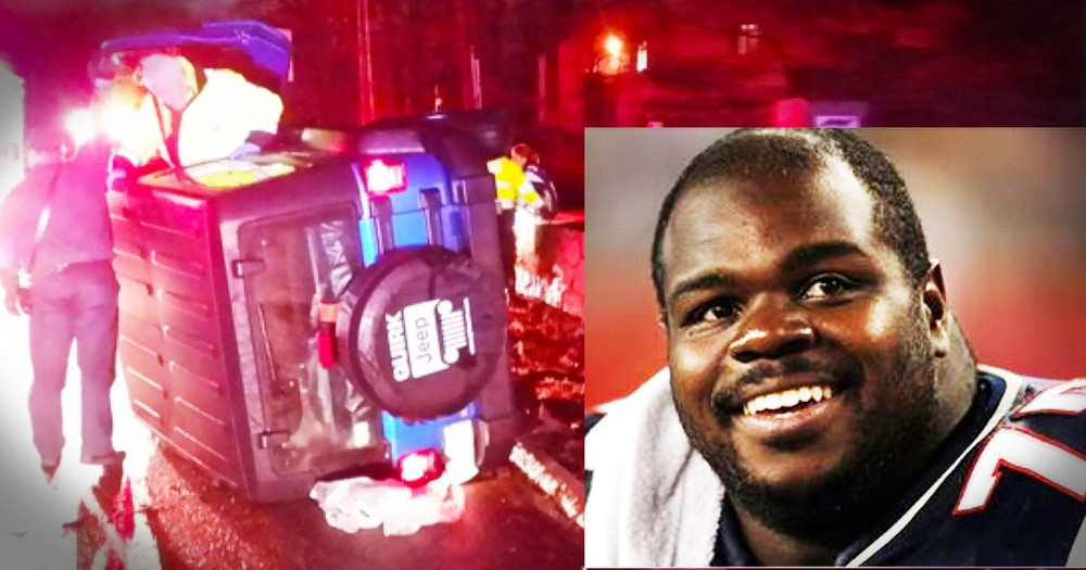 Vince Wilfork Pulls Woman From Flipped Car