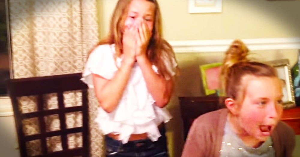 2 Girls Are Adorably SHOCKED By Their Mom's News--Aww!