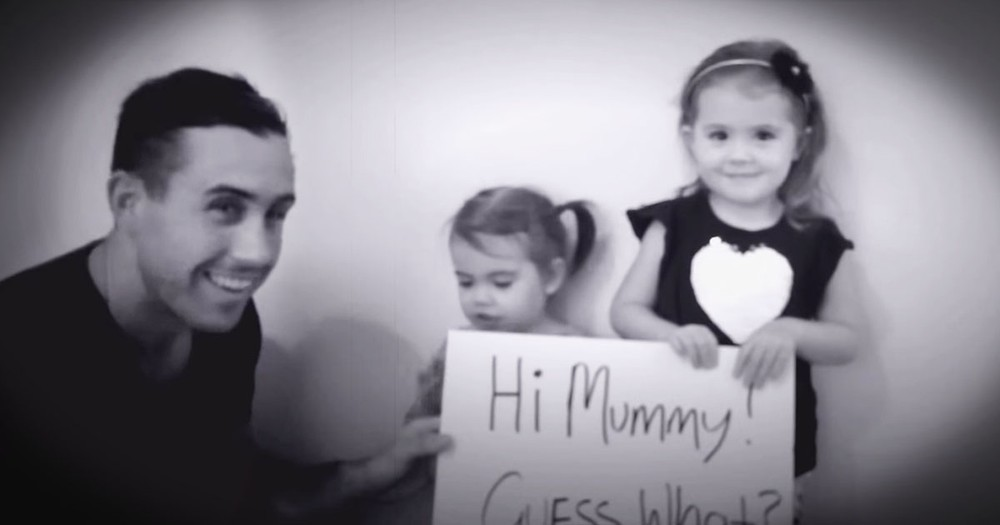 2 Sweet Girls Help Their Dad Propose--Aww!