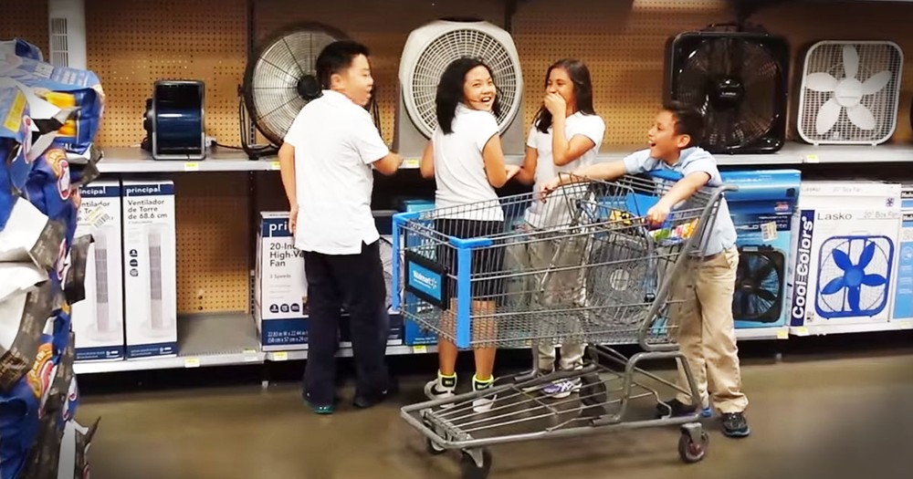 Kids In Walmart Surprised Dad When They Did This! LOL